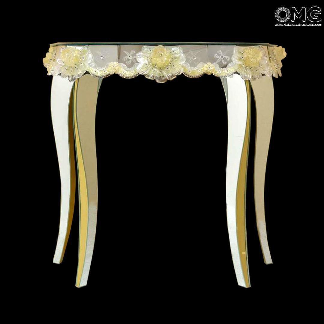 Table Console Regina Venetian Mirror - Murano glass