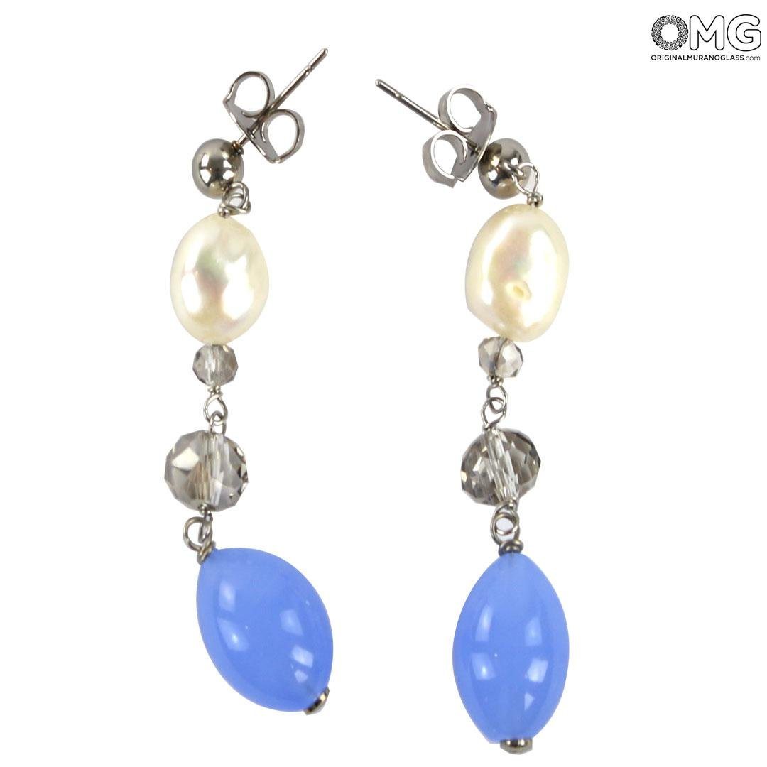 Violet Long Earrings - Antica Murrina Collection - Original Murano Glass OMG