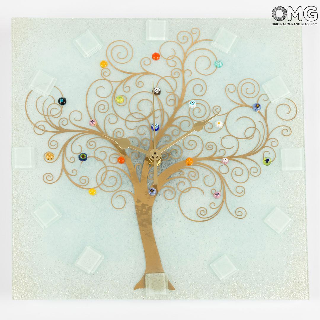 Wall Clock - The Tree of Life - Original Murano Glass OMG
