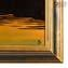 Picture with Frame on Murano Glass Plate - Health church at sunset in Venice - Coloured with gold-like leaf